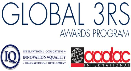 2016 International Global 3Rs Award ($ 5'000) to Olivier Frey and